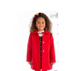Abrigo infantil paño en rojo