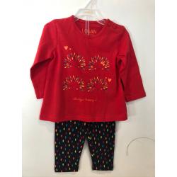 Conjunto camiseta y legging bebé