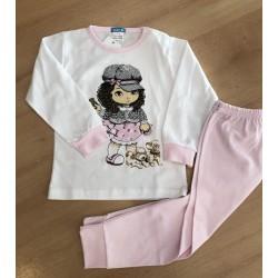 Pijama infantil niña algodón